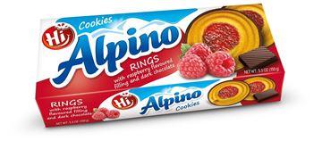Εικόνα της ALPINO RING COOKIES ΜΕ RUSBERRY ΚΑΙ ΣΟΚΟΛΑΤΑ  150ΓΡ