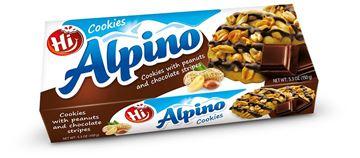 Εικόνα της ALPINO COOKIES ΜΕ ΦΥΣΤΙΚΙΑ ΚΑΙ ΣΟΚΟΛΑΤΑ  150ΓΡ