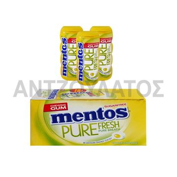 Εικόνα της MENTOS PURE FRESH ΜΠΟΥΚΑΛΑΚΙ 28ΓΡ LEMONADE x 12TEM