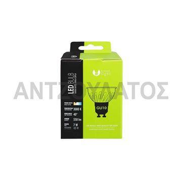 Εικόνα της LED SPOT GU10 COB 7W 230V ΖΕΣΤΟ ΧΡΩΜΑ WW