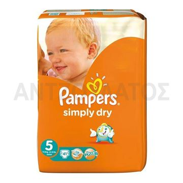 Εικόνα της PAMPERS SIMPLY DRY Νο5 (11-25KGR) / 41 ΤEM