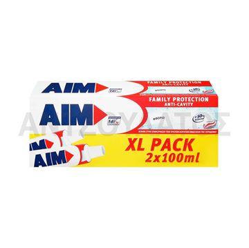 Εικόνα της AIM ΟΔΟΝΤΟΚΡΕΜΑ 2 X 100ML FAMILY PROTECTION ANTI-CAVITY ΕΛΛΗΝΙΚΟ