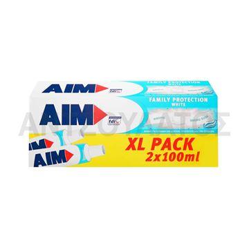 Εικόνα της AIM ΟΔΟΝΤΟΚΡΕΜΑ 2 X 100ML FAMILY PROTECTION WHITE ΕΛΛΗΝΙΚΟ