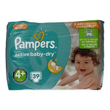 Εικόνα της PAMPERS BABY DRY Νο4+(9-16KG) / 39 ΤΕΜ ΕΛΛΗΝΙΚΟ