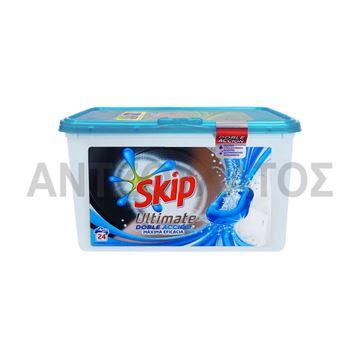 Εικόνα της SKIP ΚΑΨΟΥΛΕΣ 24ΤΜΧ ULTIMATE  DOUBLE ACTION ACTIVE CLEAN
