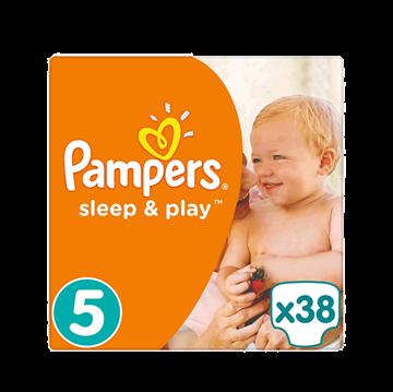Εικόνα της PAMPERS ΠΑΝΑ No5 (11-23kg) 38ΤΜΧ SLEEP & PLAY