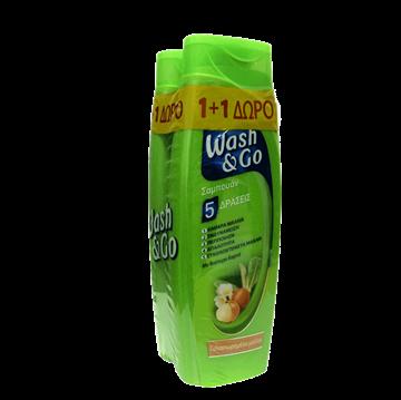 Εικόνα της WASH & GO ΣΑΜΠΟΥΑΝ 400ML ΤΑΛΑΙΠΩΡΗΜΕΝΑ ΜΑΛΛΙΑ 1+1 ΔΩΡΟ