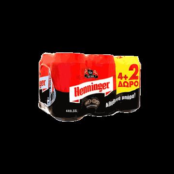 Εικόνα της HENNINGER ΜΠΥΡΑ ΚΟΥΤΙ  (330ML X 4+ 2 ΔΩΡΟ) X 4