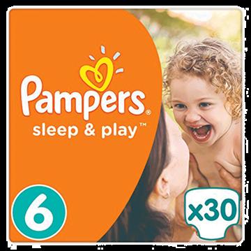 Εικόνα της PAMPERS ΠΑΝΑ No6 (15+KG) 30ΤΜΧ SLEEP & PLAY