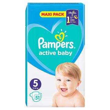 Εικόνα της PAMPERS ACTIVE BABY MAXI No5 (11-16 KG) / 51 ΤΕΜ  ΕΛΛΗΝΙΚΟ