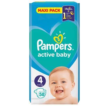 Εικόνα της PAMPERS ACTIVE BABY MAXI No4 (9-14 KG) / 58 ΤΕΜ ΕΛΛΗΝΙΚΟ