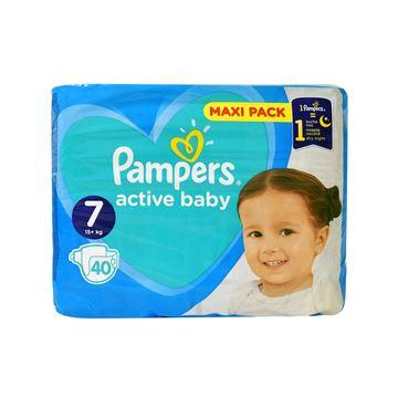 Εικόνα της PAMPERS ACTIVE BABY MAXI No7 (15+KG) / 40 ΤΕΜ