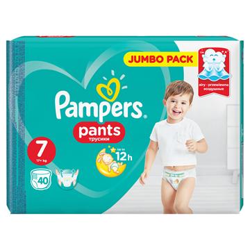 Εικόνα της PAMPERS PANTS No7 (17+ KG) / 40ΤΕΜ JUMBO PACK