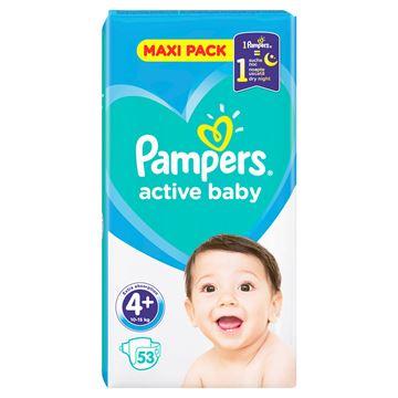 Εικόνα της PAMPERS ACTIVE BABY MAXI No4+ (10-15 KG) / 53 ΤΕΜ ΕΛΛΗΝΙΚΟ