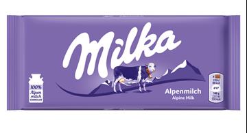 Εικόνα της MILKA ΣΟΚΟΛΑΤΑ ΓΑΛΑΚΤΟΣ 100ΓΡ ALPINE MILK