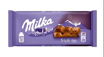 Εικόνα της MILKA ΣΟΚΟΛΑΤΑ ΓΑΛΑΚΤΟΣ 90ΓΡ TRIPLE CHOCO COCOA