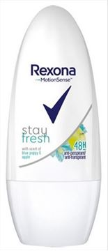 Εικόνα της REXONA ROLL ON 50ML STAY FRESH BLUE POPPY & APPLE